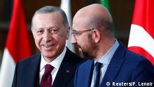 Belgein Brüssel | Recep Tayyip Erdogan und EU Ratspräsident Charles Michel
