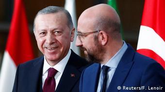 دیدار اردوغان با چارلز میشل، رئیس شورای اتحادیه اروپا