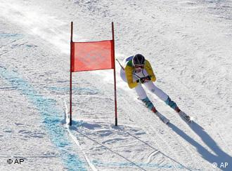 Maria Riesch on the slalom course