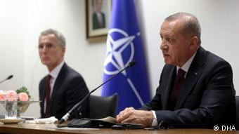 Belgien Brüssel | Jens Stoltenberg und Recep Tayyip Erdogan bei Pressekonferenz (DHA)