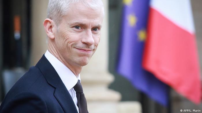 Menteri Kebudayaan Prancis Franck Riester (AFP/L. Marin)