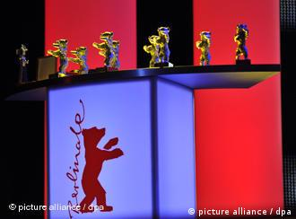 Pild.jpgThe bear trophies seen during the award ceremony of the 60th Berlinale International Film Festival in Berlin, Germany, Saturday, 20 February 2010. Up to 400 films are shown every year as part of the Berlinale's public programme. The Berlinale is divided into different sections, each with its own unique profile. Photo: Jörg Carstensen dpa/lbn