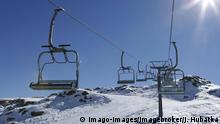 Italien leerer Skilift San Martino di Castrozza