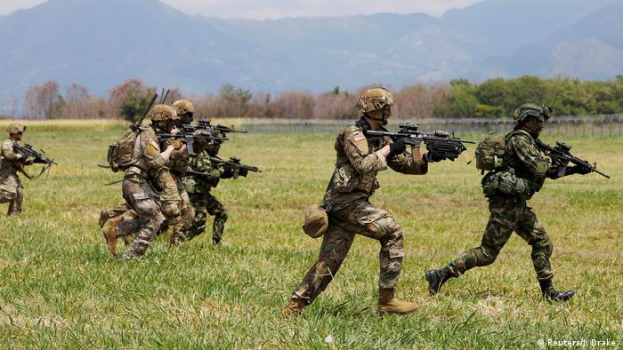 Kolumbien Gemeinsame Militärübung mit den USA ARCHIV
