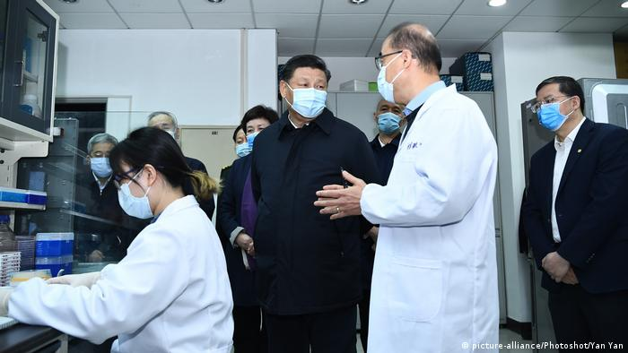 China Xi Jinping visits the School of Medicine at Tsinghua University in Beijing