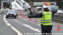 10.03.2020 *** A policeman selects a car coming from Italy at the autobahn near Gries am Brenner on Tuesday, March 10, 2020. Austria authorities started on random checks of arriving vehicles at the border crossings with Italy in reaction to the outbreak of the new coronavirus in Europe, particularly in Italy. As part of the move, officials measure the temperatures of some passengers in cars, trucks and buses. For most people, the new coronavirus causes only mild or moderate symptoms, such as fever and cough. For some, especially older adults and people with existing health problems, it can cause more severe illness, including pneumonia. (AP Photo/Kerstin Joensson ) |
