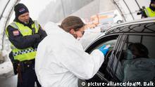 Grenze Italien - Österreich Coronavirus Temperaturkontrolle