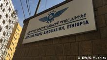 Air Line pilots Association, Ethiopia- logo. One Year memorial ceremony of crashed Ethiopian Boeing 737 max 8 at Air Line pilots Association in Ethiopia, Addsi Abeba, Ethiopia, Äthiopien,10.03.2020 Author/ Foto by :Solomon Muchieu (DW Amharic correspiondent)