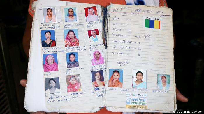 A book with passport sized photos of women in it