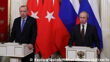 Russland Recep Tayyip Erdogan, Präsident Türkei & Wladimir Putin in Moskau