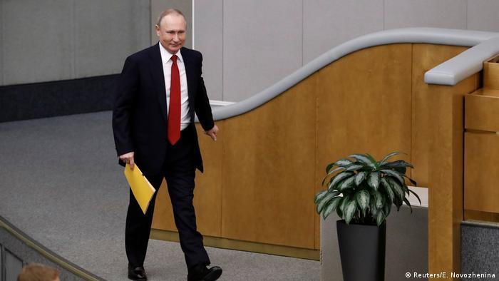Russland Parlament in Moskau | Wladimir Putin, Präsident (Reuters/E. Novozhenina)