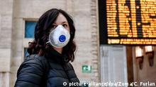 Coronavirus - Italien Mailand Hauptbahnhof