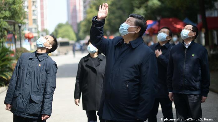 China Wuhan Besuch Präsident Xi Jinping (picture-alliance/Xinhua/X. Huanchi)