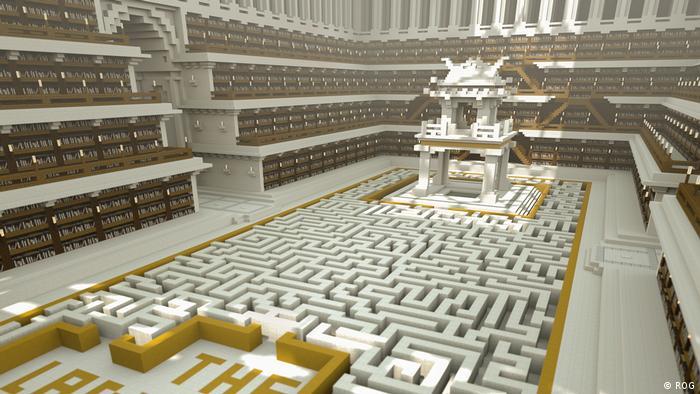 Виртуальная библиотека в игре Minecraft