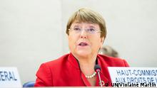 Michelle Bachelet, UN High Commissioner for Human Rights addresses High Level Segment of the 43rd Regular Session of the Human Rights Council. 24 February 2020. UN Photo / Violaine Martin