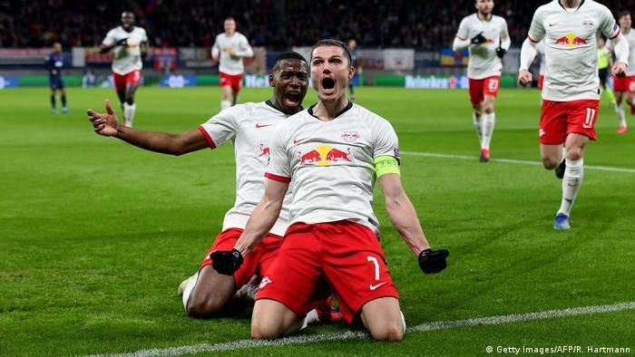 Marcel Sabitzer celebrates a goal