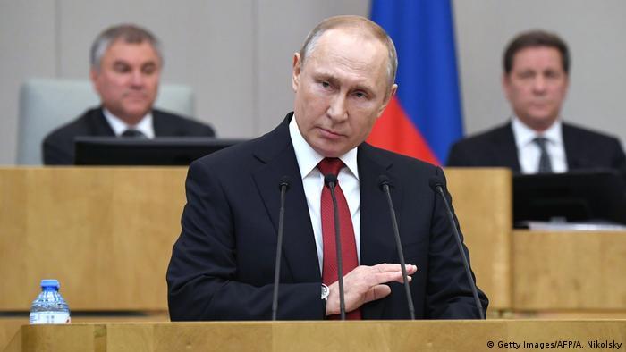 Ansprache des russischen Präsidenten Wladimir Putin im März 2020 vor der Staatsduma