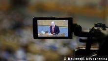 Russland, Moskau: Präsident Wladimir Putin spricht im Unterhaus zur Änderung der Verfassungsreform