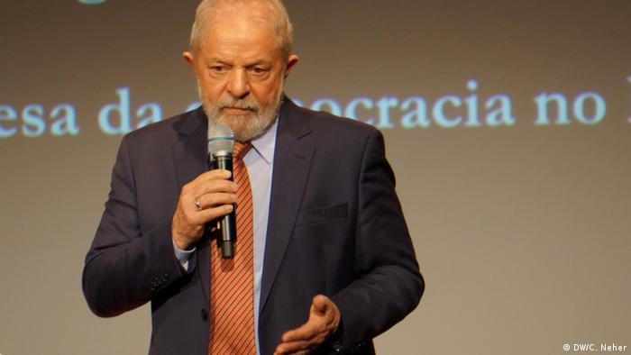 Berlin: Ex-Präsident Brasiliens Luiz Inácio Lula da Silva hält eine Rede (DW/C. Neher)