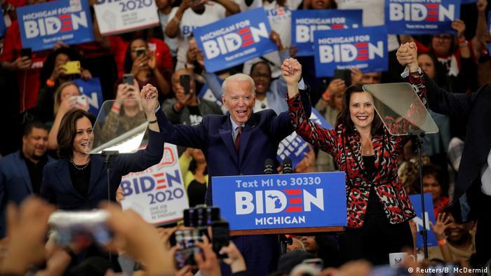 Джо Байден на встрече с избирателями в Детройте, март 2020 года