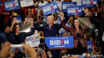 Джо Байден во время встречи с избирателями в Детройте, март 2020 года