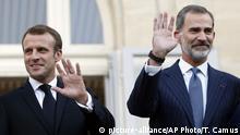 Emmanuel Macron und König Felipe VI