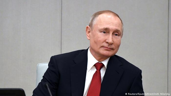 Russland Moskau Präsident Putin im Parlament (Reuters/Sputnik/Kremlin/A. Nikolsky)