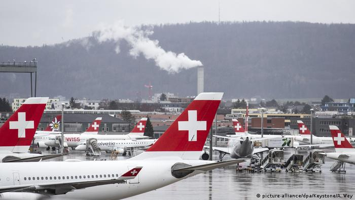 Coronavirus - Switzerland - Zurich airport (picture-alliance/dpa/Keystone/A. Wey)