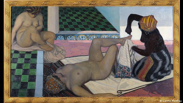 پدیکور به سبک مورویی؛ اثری از ژول میگونه (۱۸۷۶- ۱۹۲۵) نقاش فرانسوی