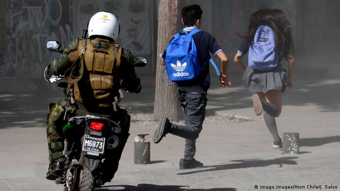 Protesta de estudiantes chilenos. (Archivo).