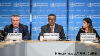 Schweiz   Pressekonferenz: Weltgesundheitsorganisation WHO - Ausbreitung des Coronavirus wird als Pandemie eingestuft (Getty Images/AFP/F. Cofffrini)