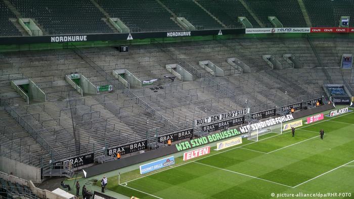 مدرجات خالية.. هذا هو حال كرة القدم في زمن كورونا (ملعب بروسيا مونشنغلادباخ).