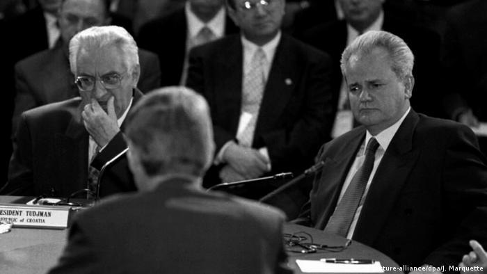 Franjo Tuđman i Slobodan Milošević u Daytonu, 1.11.1995.