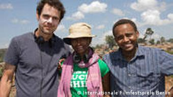 Filmemacher Tom Tykwer, Hawa Essuman, Billy Kahora (Foto: Internationale Filmfestspiele Berlin)