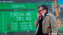Japanische Börse bricht ein