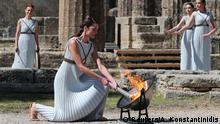 BdTD Griechenland Olympische Flamme für Tokio Griechenland Entzündung der olymischen Flamme für Tokio 2020