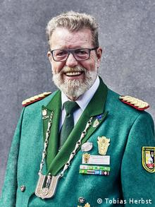 Emil Vogt, the head of the Association of Historic German Shooting Fraternities (BHDS) (Tobias Herbst)