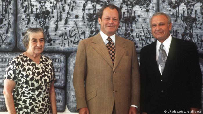 Israel 1973 | Bundeskanzler Willy Brandt & Efraim Kazir sowie Golda Meir in Jerusalem