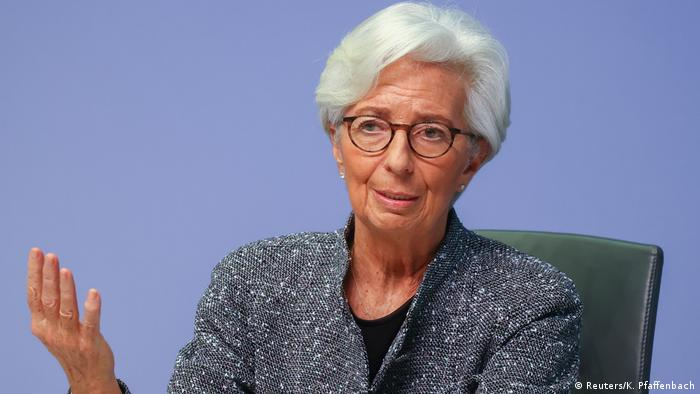 European Central Bank president Christine Lagarde addresses a news conference on the outcome of the meeting of the Governing Council.
