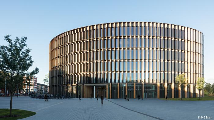 A picture of city hall in Freiburg, Germany