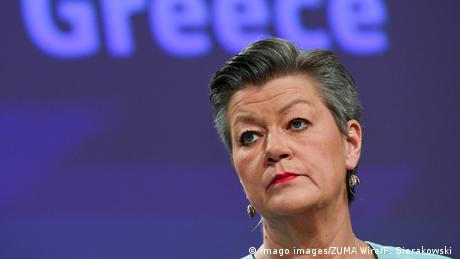 Ylva Johansson | EU-Kommissarin für Inneres (imago images/ZUMA Wire/F. Sierakowski )