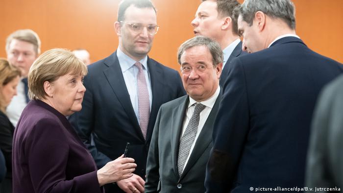 Špan, Lašet i Zeder sa kancelarkom Merkel (mart 2020)