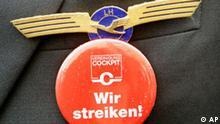 Lufthansa Piloten Streik