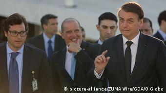 Brasilien Fabio Wajngarten und Jair Bolsonaro