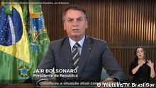 Screenshot Rede Bolsonaro zu Coronavirus