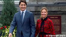 Kanada Justin Trudeau und seine Frau Sophie Gregoire Trudeau