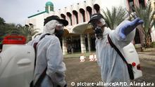 Coronavirus in Indonesien Jakarta Desinfektion Moschee