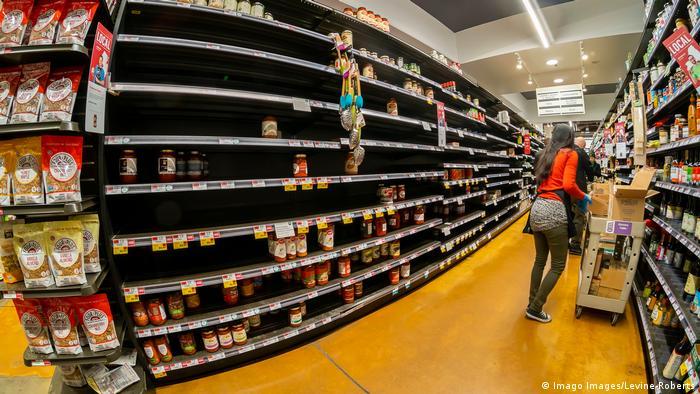 Coronavirus in USA New York Hamsterkäufe Supermarkt