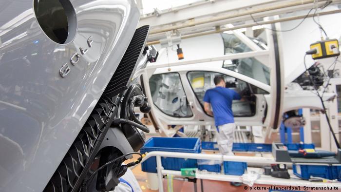 VW assembly line in Wolfsburg