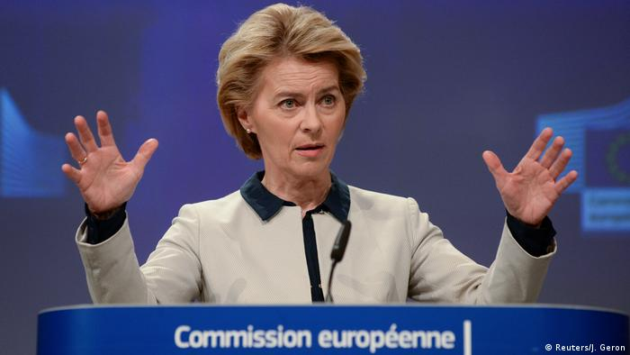 Brüssel PK Ursula von der Leyen (Reuters/J. Geron)